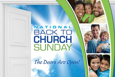 Back to Church Sunday is Sept 21